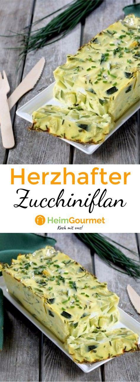 Dieser leckere Flan ist die perfekte Kombination aus Zucchini und Feta. Leicht und lecker!