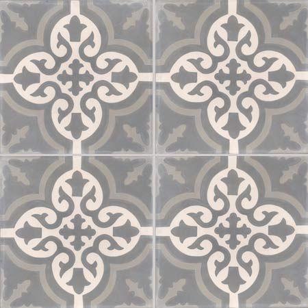 Carreaux de ciment - décors 4 carreaux - Carreau TROUVILLE 32.27.07 - Couleurs & Matières