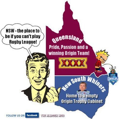 State of Origin Queensland vs New South Wales Rugby League Football