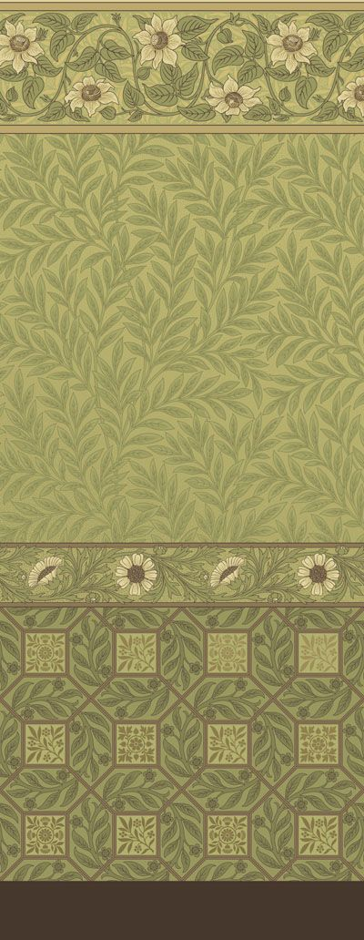 "Bruce Talbert roomset, featured at the ""Cult of Beauty"" exhibit at the Legion of Honor, San Francisco #bradburywallpaper"