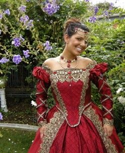 medieval costume: Medieval Costume, Jewelry Sets, Red Gowns, Sets Circlet, Elizabethan Tudor, Tudor Medieval, Medieval Jewelry, The Dresses, Medieval Dresses