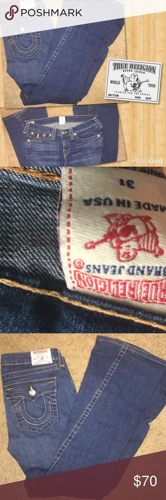 True religion jeans True religion jeans size 31 very nice flair boot cut so cute great condition True Religion Jeans Flare & Wide Leg
