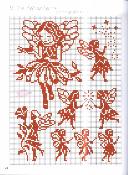 cross stitch - girl fairy silhouette