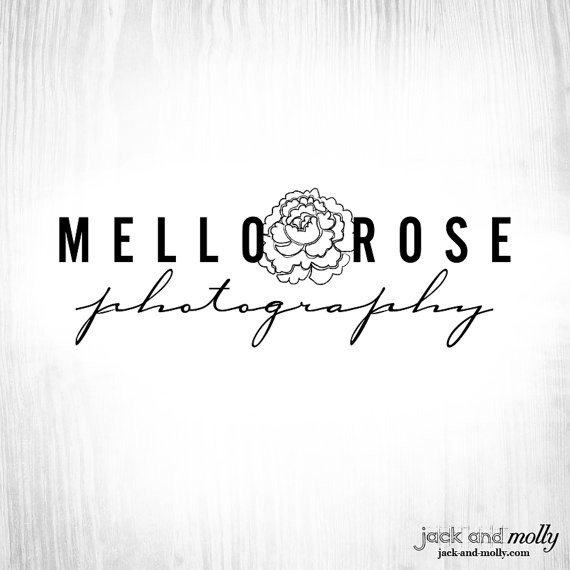 Logo Design for Mello Rose Photography: by Jack and Molly