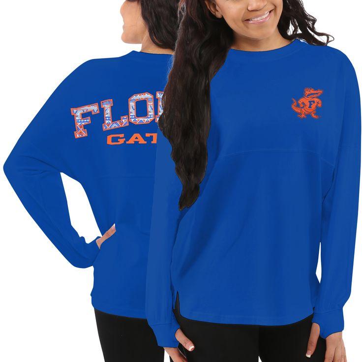 Florida Gators Womens Aztec Sweeper Long Sleeve Oversized Top