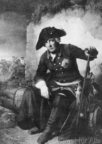 Julius Schrader - Friedrich der Große nach der Schlacht bei Kolin