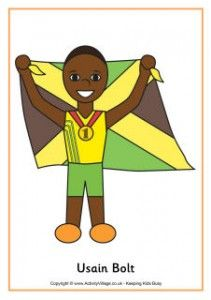 Free Olympic PrintablesBolt Colours, Brittany Bolt, Olympics Heroes, Olympics Activities, Athletic Colours, Olympics Colours, Heroes Colours, Olympics Printables, Usain Bolt
