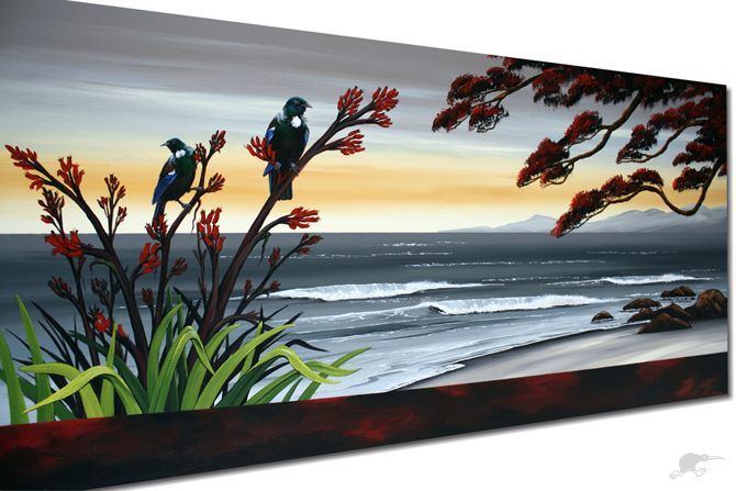 *TWO TUI & FLAX* - Original by Wildart | Trade Me