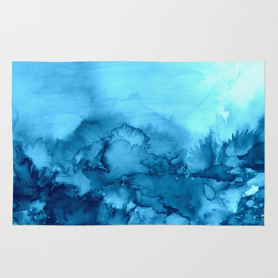 into eternity turquoise colorful aqua blue watercolor painting abstract art floral landscape nature area u0026