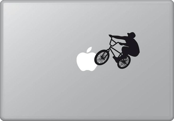 Biker 3 | MacBook sticker | #pasteit #sticker #stickers #macbook #apple #blackandwhite #art #drawing #custom #customize #diy #decoration #illustration #design #sport #sports #extremesport #extremesports #freestyle #freestyler #bike #biker