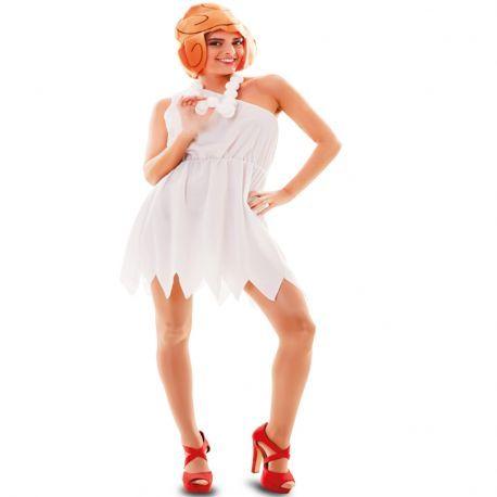 Disfraz de Wilma Picapiedra ideal para grupos y comparsas de Carnaval.