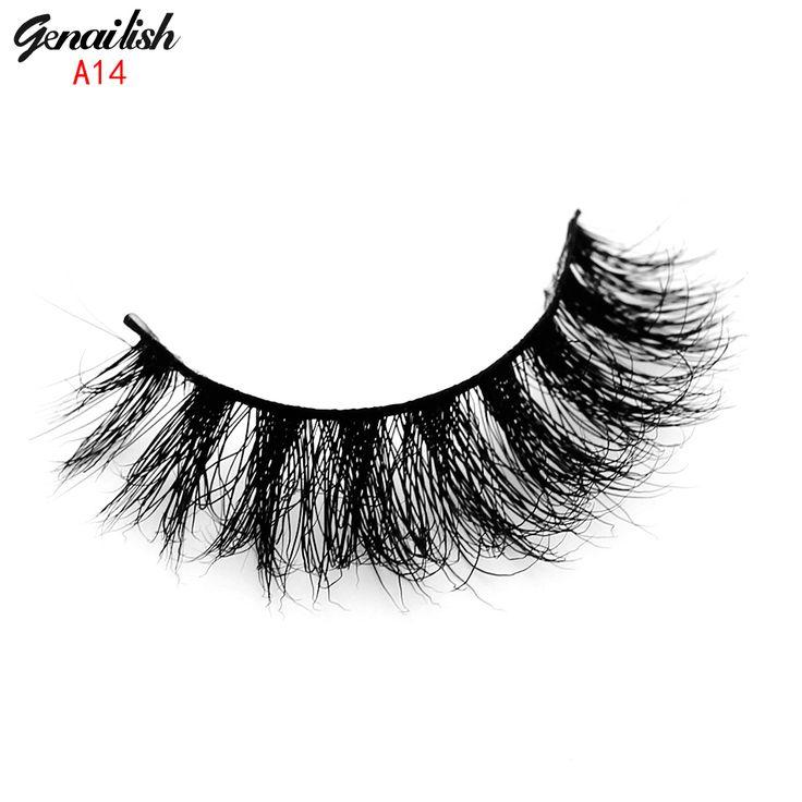 1 paia ciglia finte 3d ciglia di visone naturale fatto a mano ciglia finte ciglia striscia completa di estensione per beauty makeup-a14