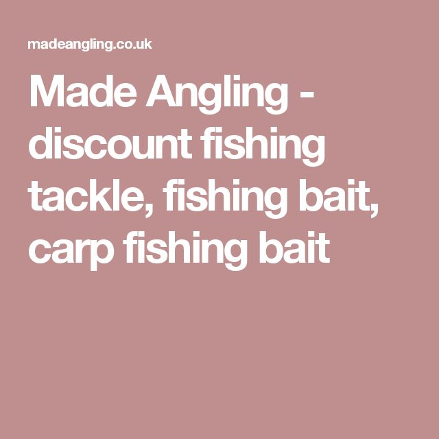 Made Angling - discount fishing tackle, fishing bait, carp fishing bait