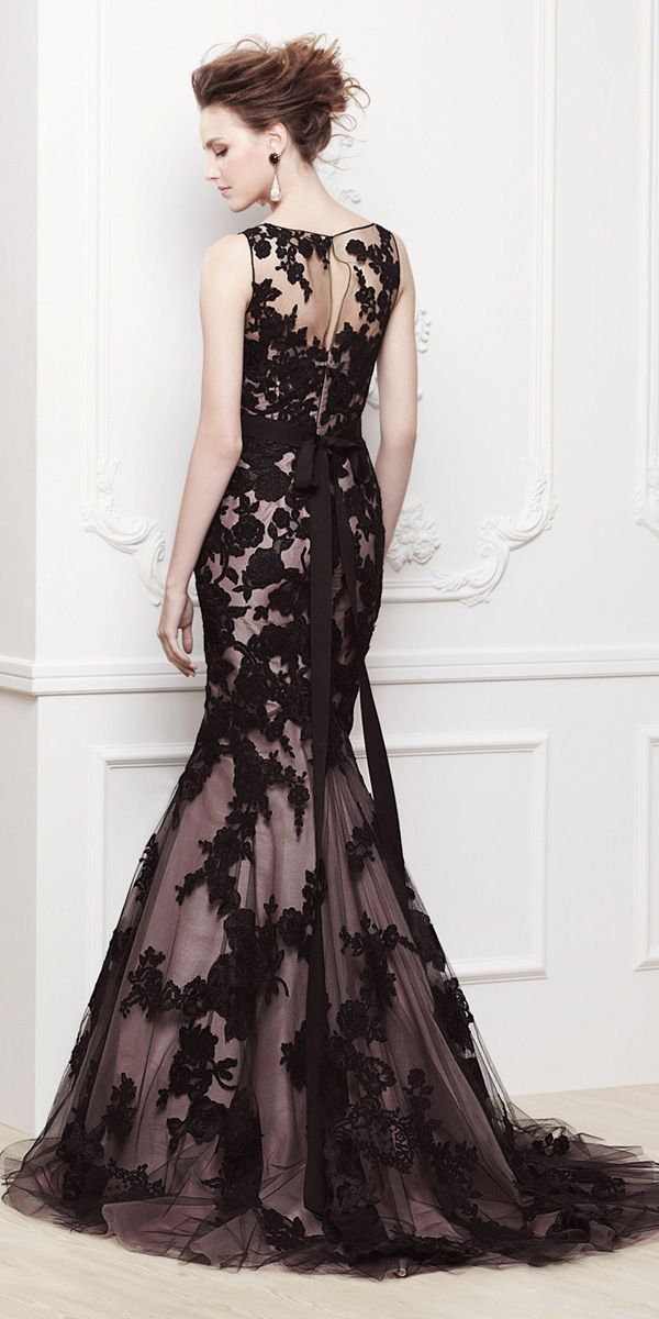 21 Black Wedding Dresses With Edgy Elegance