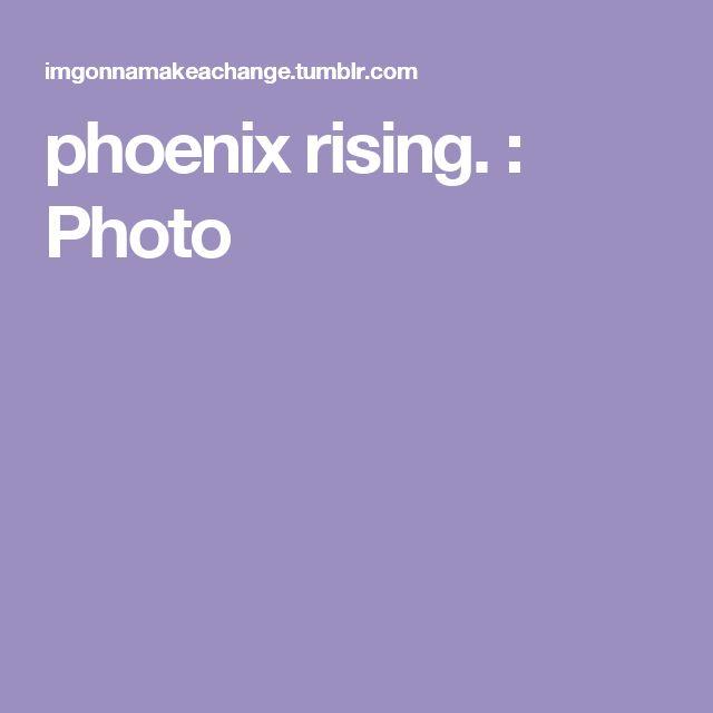 phoenix rising. : Photo
