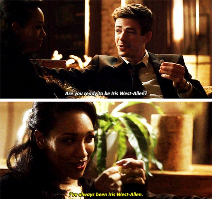 """Are you ready to be Iris West-Allen?"" - Barry and Iris #TheFlash"