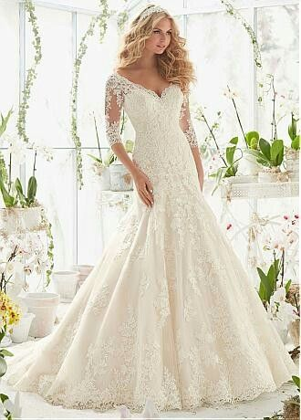 Tulle and Lace A-Line Wedding Ballgown