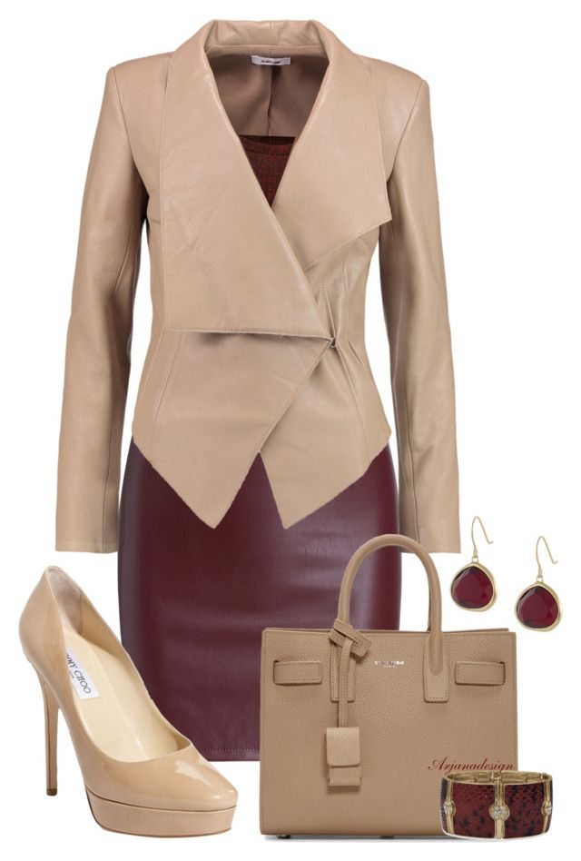 """""""HELMUT LANG LEATHER JACKET"""" by arjanadesign ❤ liked on Polyvore featuring…"""