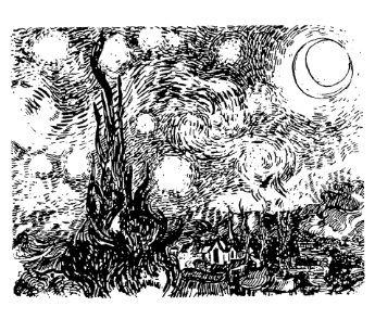 van gogh rubber stamps | Frantic Stamper Cling-Mounted Rubber Stamp - Van Gogh's Starry Night