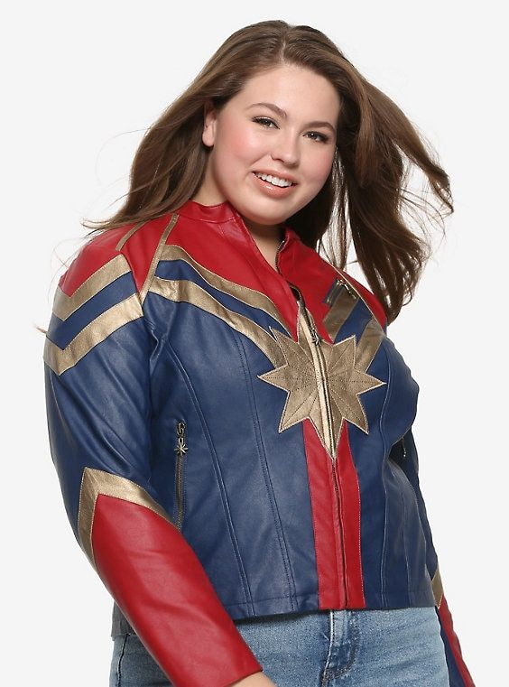 Marvel Captain Marvel Star Faux Leather Jacket Plus Size Marvel Clothes Leather Jacket Marvel Jacket Here is the most powerful of all the marvel heroes, captain marvel! marvel captain marvel star faux leather
