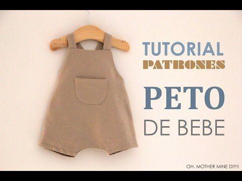 DIY Tutoriales y patrones gratis: PETO DE BEBE - YouTube