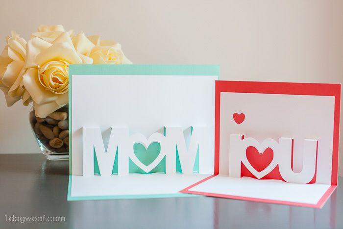 Kirigami gratuit MOM pour la fête des mères