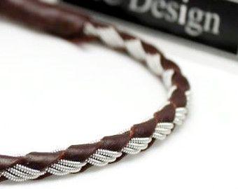 Leather wrap bracelet Sami bracelet braided by ACDesignJewellery