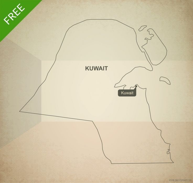 Free vector map of Kuwait outline 9