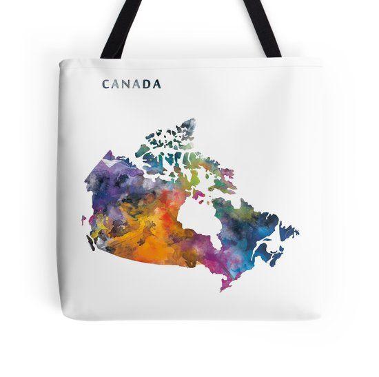 Canada #canada #ottawa #america #state #map #art #prints #tote #bags #women #colorful #gift