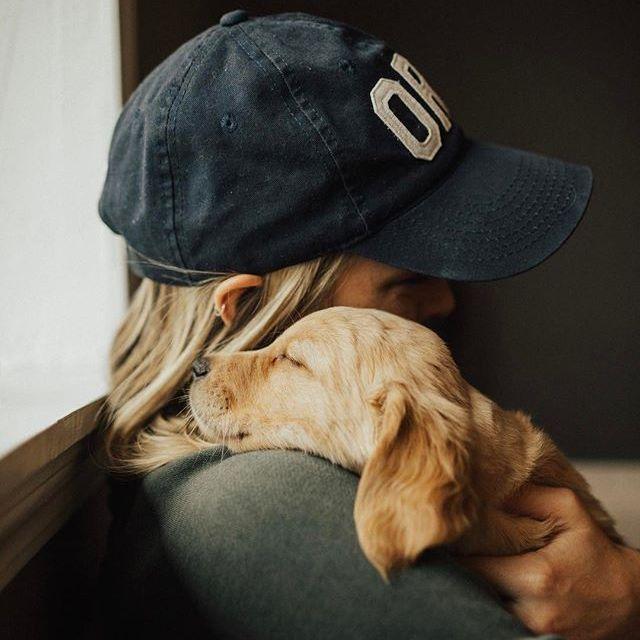 ball cap + pup