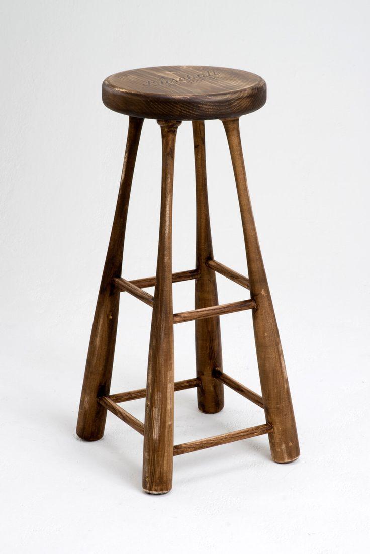 """The """"Vintage"""" Baseball Bat Bar Stool, Baseball Bat Decor, Baseball Bat Chair, Baseball Bat Gift, Gifts for Men, Baseball Bat Home Decor by BaseballBatStoolCo on Etsy https://www.etsy.com/listing/234904243/the-vintage-baseball-bat-bar-stool"""