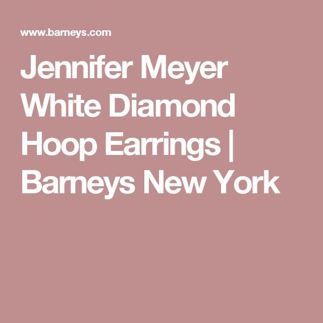 Jennifer Meyer White Diamond Hoop Earrings | Barneys New York