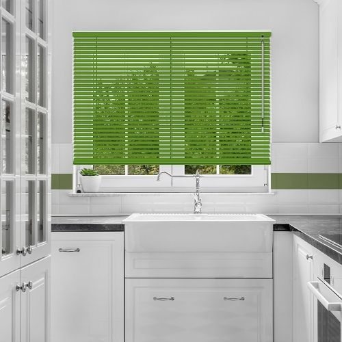 Forest Green Venetian Blind