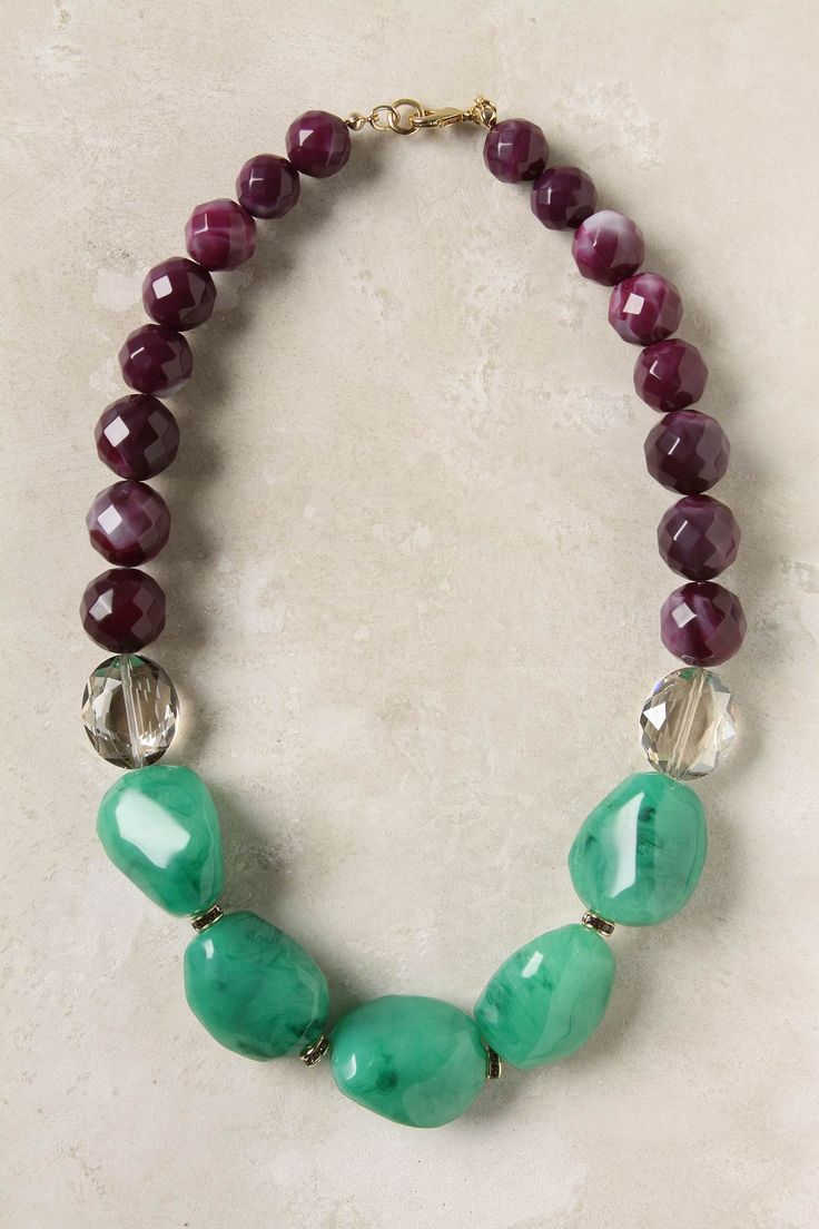 Colourblocked strands Necklace from Anthropology - I'm loving cool necklaces to go with simple tee's