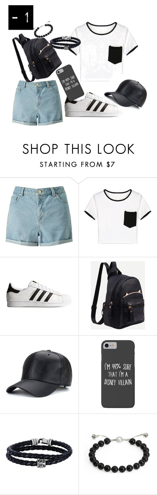 """""""perfect lazy summer outfit"""" by watermelons18 on Polyvore featuring Miss Selfridge, WithChic, adidas Originals, Disney, Phillip Gavriel and Gucci"""