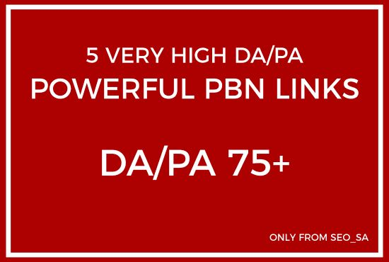 give you 5 permanent high da pa 75 pbn backlinks