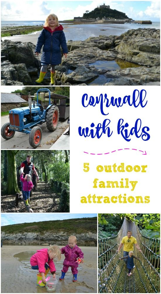 Five outdoor family attractions to enjoy with your kids in Cornwall including Newquay Zoo, St Michael's Mount, Healey's Cyder Farm, Crantock Beach and The Lost Gardens of Heligan