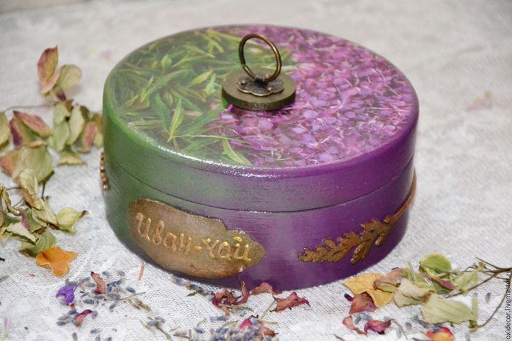Купить ЧАЙНАЯ ЦЕРЕМОНИЯ ИВАН ЧАЙ - комбинированный, шкатулка для чая, длячая, короб для чая