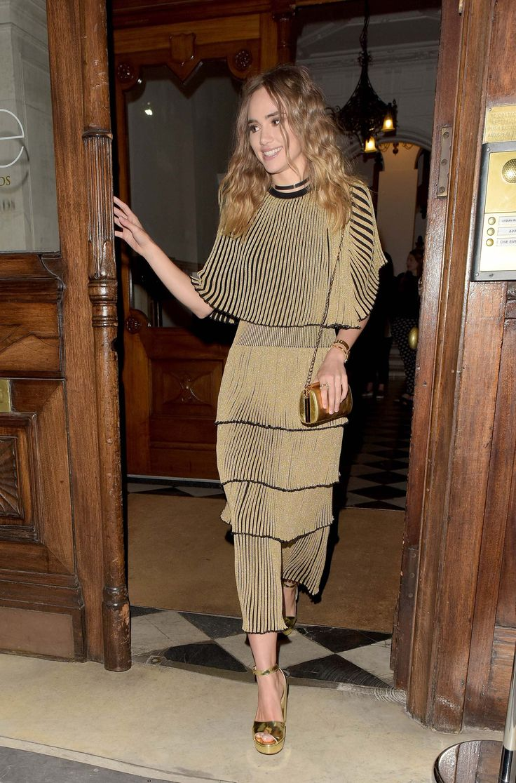 WHO: Suki Waterhouse WHAT: Sonia Rykiel dress WHERE: London WHEN: April 20, 2016