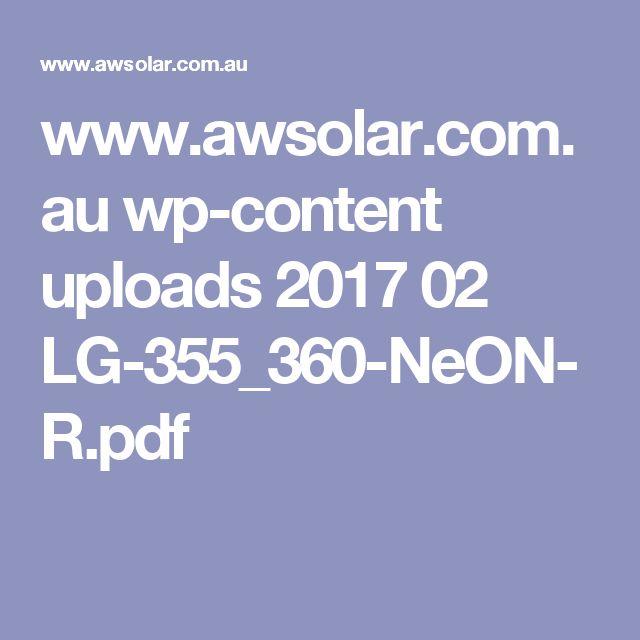 www.awsolar.com.au wp-content uploads 2017 02 LG-355_360-NeON-R.pdf