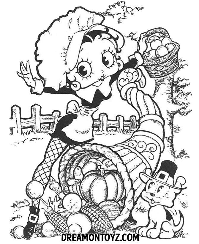 Native American Coloring Pages Betty Boop Betty Boop Coloring Book ...