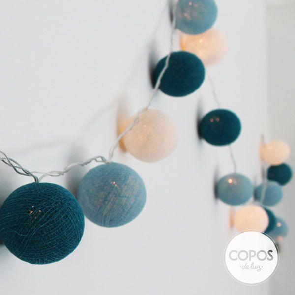 babyshower uvarnubolas de hilo y luz artesanales guirnalda