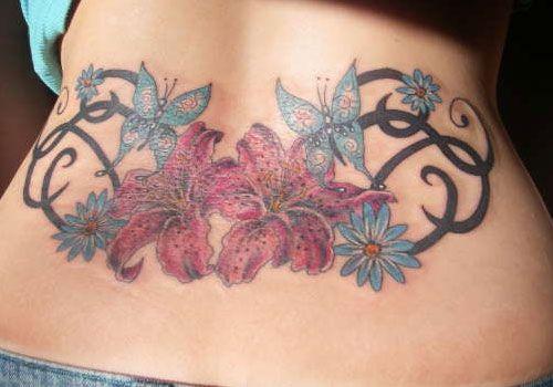 25 Astounding Tribal Flower Tattoos