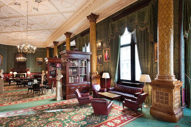 Project: National Liberal Club - London Product: Bespoke Axminster carpet design http://www.gaskell.co.uk/images_archive.html