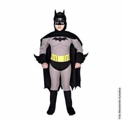 Tam P - Fantasia Batman Luxo Com Musculatura - Sulamericana - R$ 165,00 no MercadoLivre