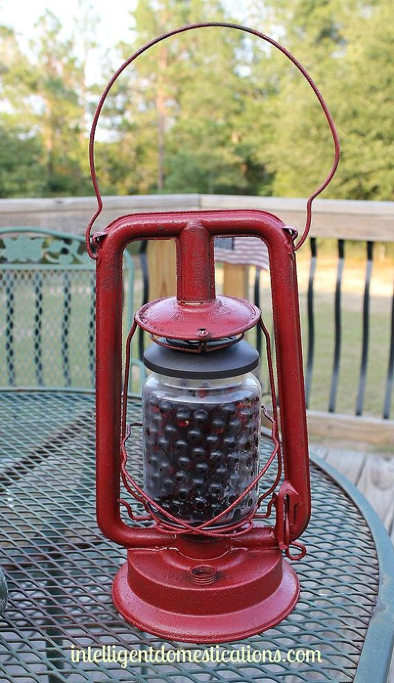 An Old Lantern Repurposed Into Solar Lighting - My husband and I found this wonderful old beat up lantern at an estate sale several years ago. I had intentions…