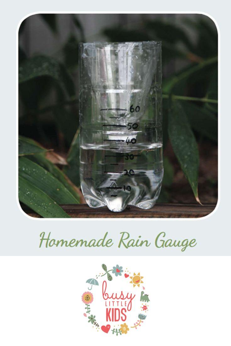 Fun, simple, easy rainy day kids activity  - Handmade Rain Gauge