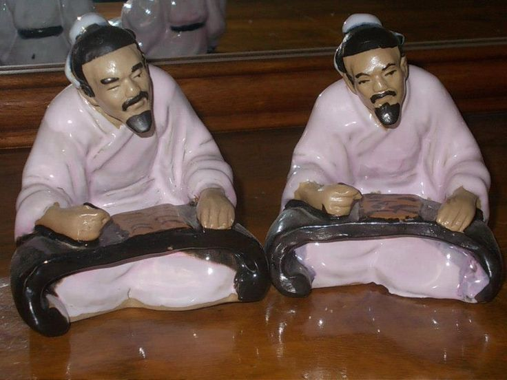 Two Vintage Japanese men created by japanede porcelain by StrangeAttachments on Etsy
