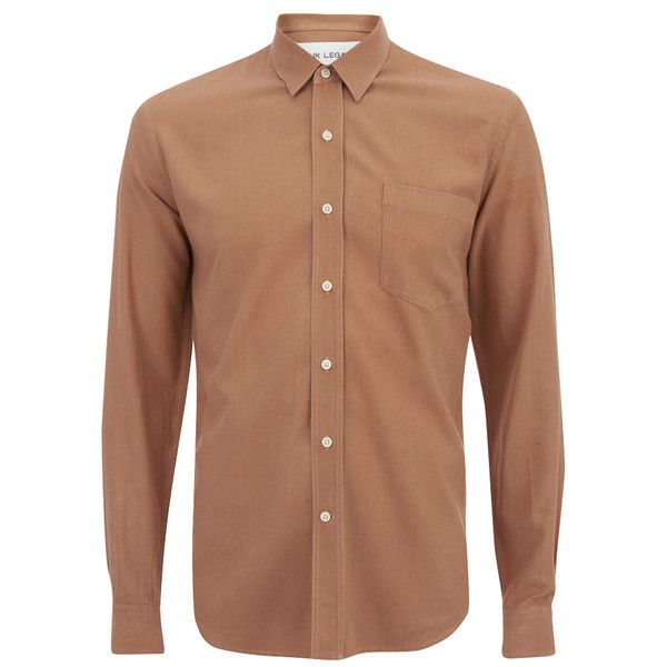 Our Legacy Men's Classic Long Sleeve Shirt - Pink Silk ($190) ❤ liked on Polyvore featuring men's fashion, men's clothing, men's shirts, men's casual shirts and pink