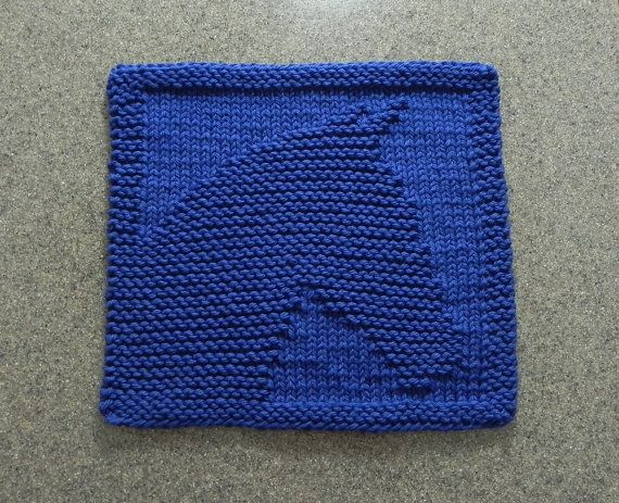 Knitted HORSE Wash Cloth or Knit Dishcloth  by AuntSusansCloset